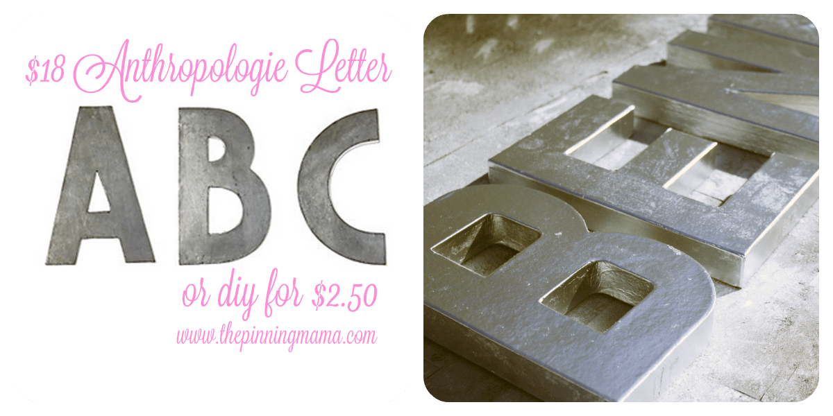 DIY Anthropologie Metal Letter