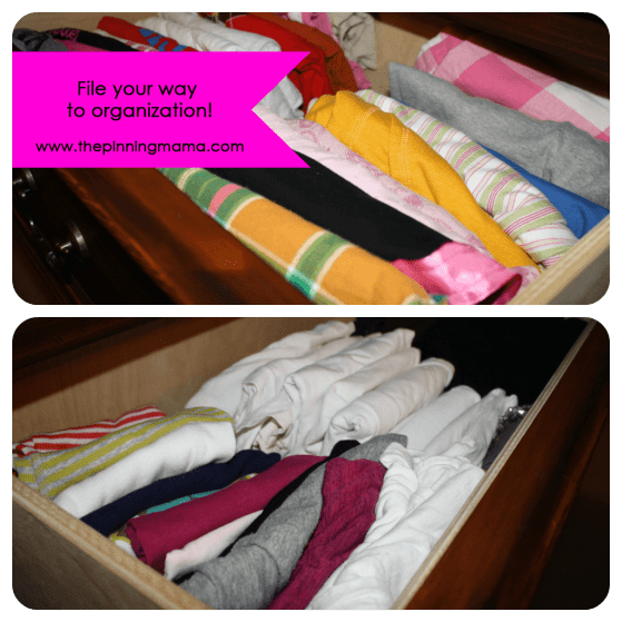 Organize and File Your Drawers www.thepinningmama.com