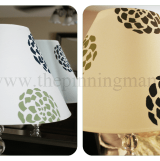 {Tutorial} diy Lampshade Makeover with Silhouette & Stencils