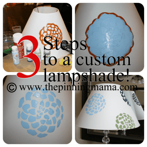 DIY Lamp with Stencils or Silhouette by www.thepinningmama.com