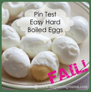 Pin Test: Easy Hard Boiled Eggs