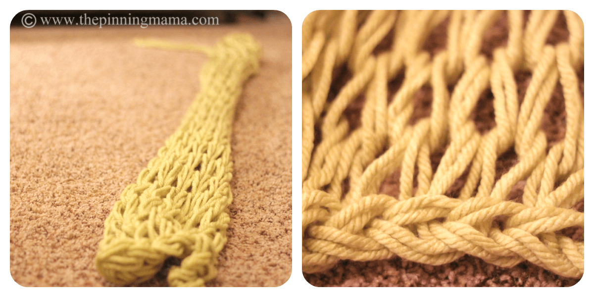 Infinity Scarf Made with Arm Knitting by www.thepinningmama.com