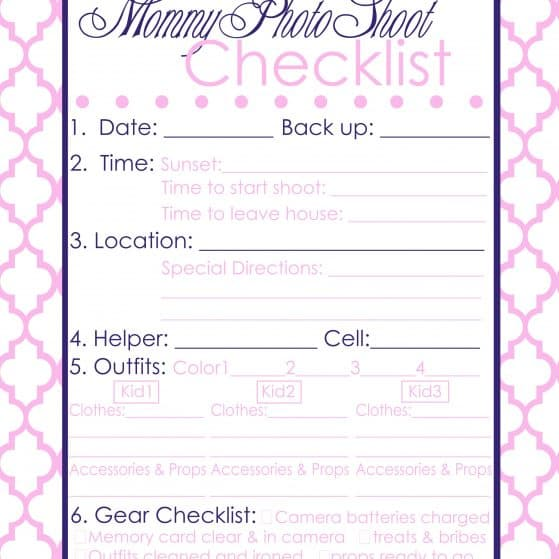 Free printable photo planner