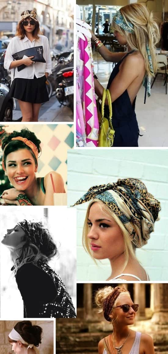 scarfs as headbands