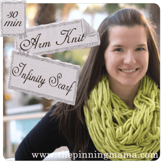 Pin Test: Infinity Scarf made with Arm Knitting