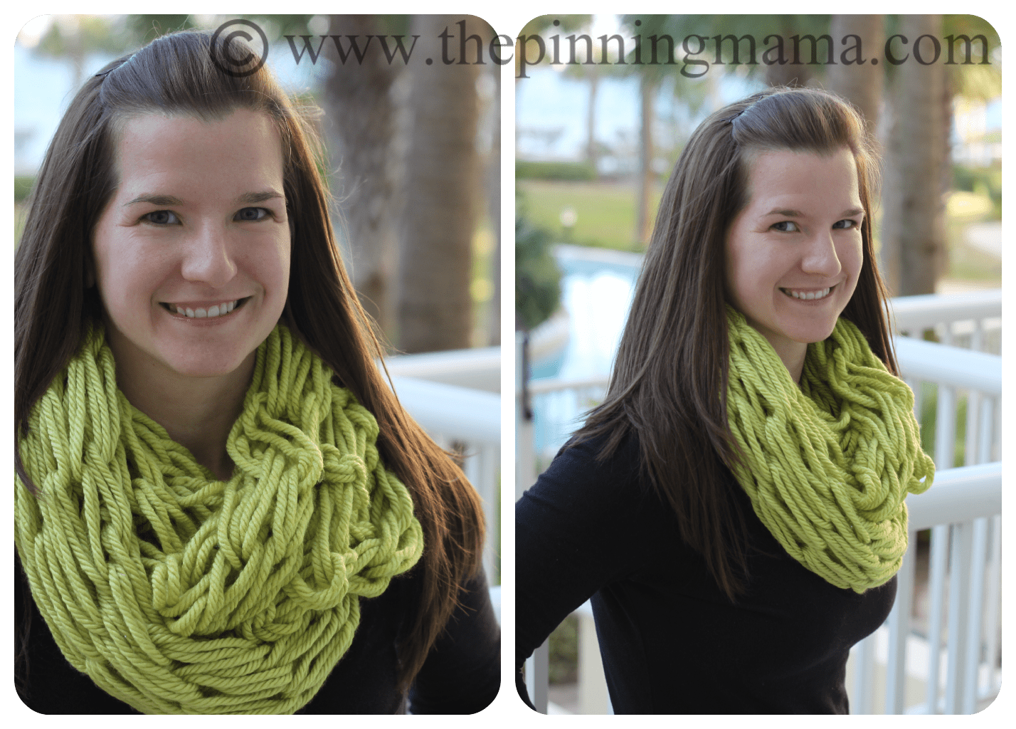 Arm Knitting Long Tail Cast On : Pin test infinity scarf made with arm knitting the