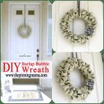 {Pin Test} Burlap Bubble Wreath DIY Tutorial