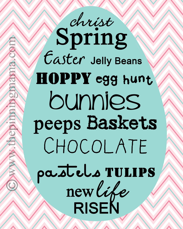 Easter, printable, free