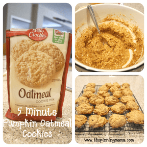 Pumpkin, oatmeal, easy quick, cookies, 5 minute, delicious