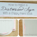 How to Create a Distressed Sign with a CHippy Paint Look by www.thepinningmama.com