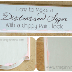 How to Create a Distressed Sign with a Chippy Paint Look
