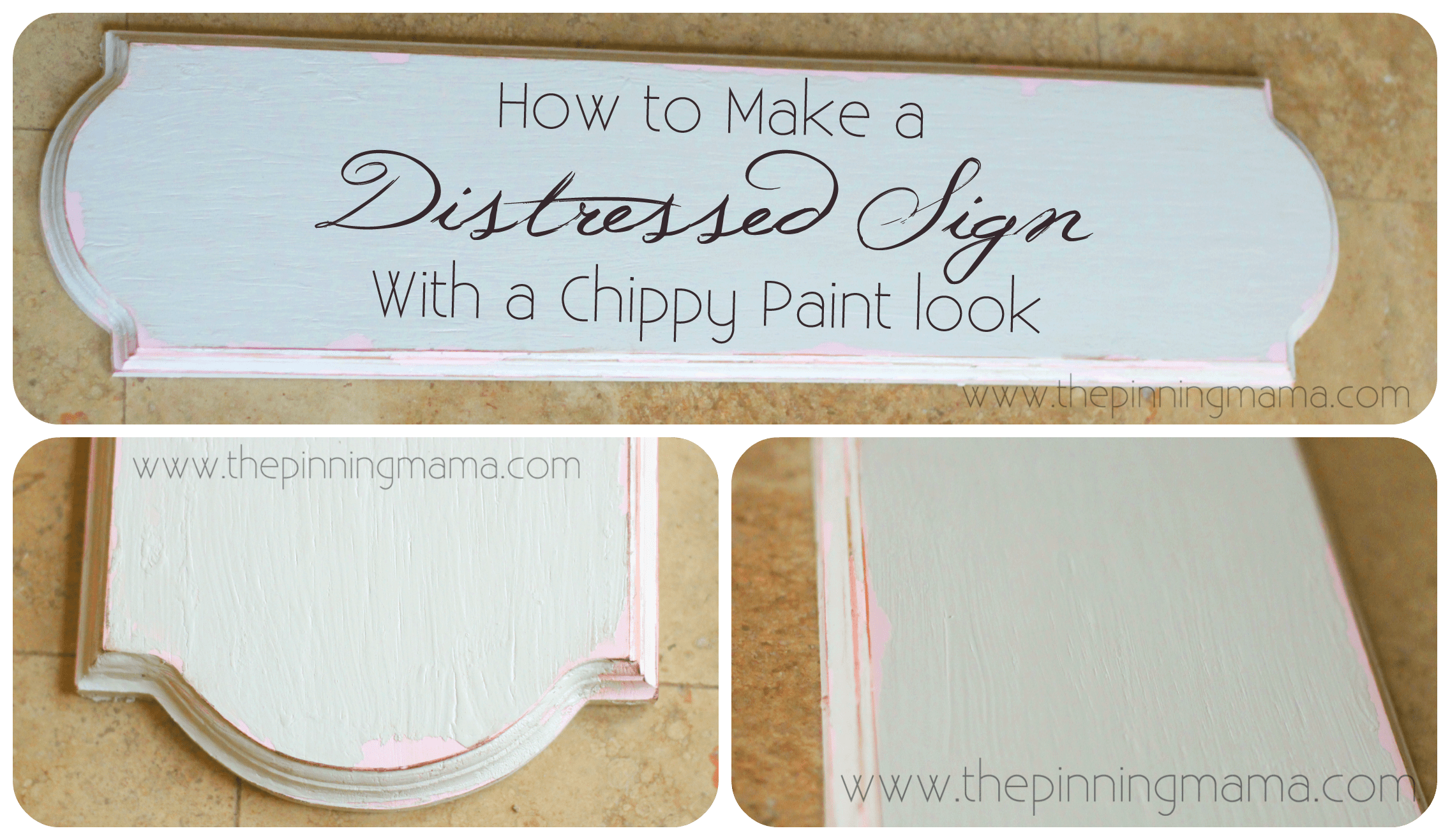 How to make paint look old and chippy