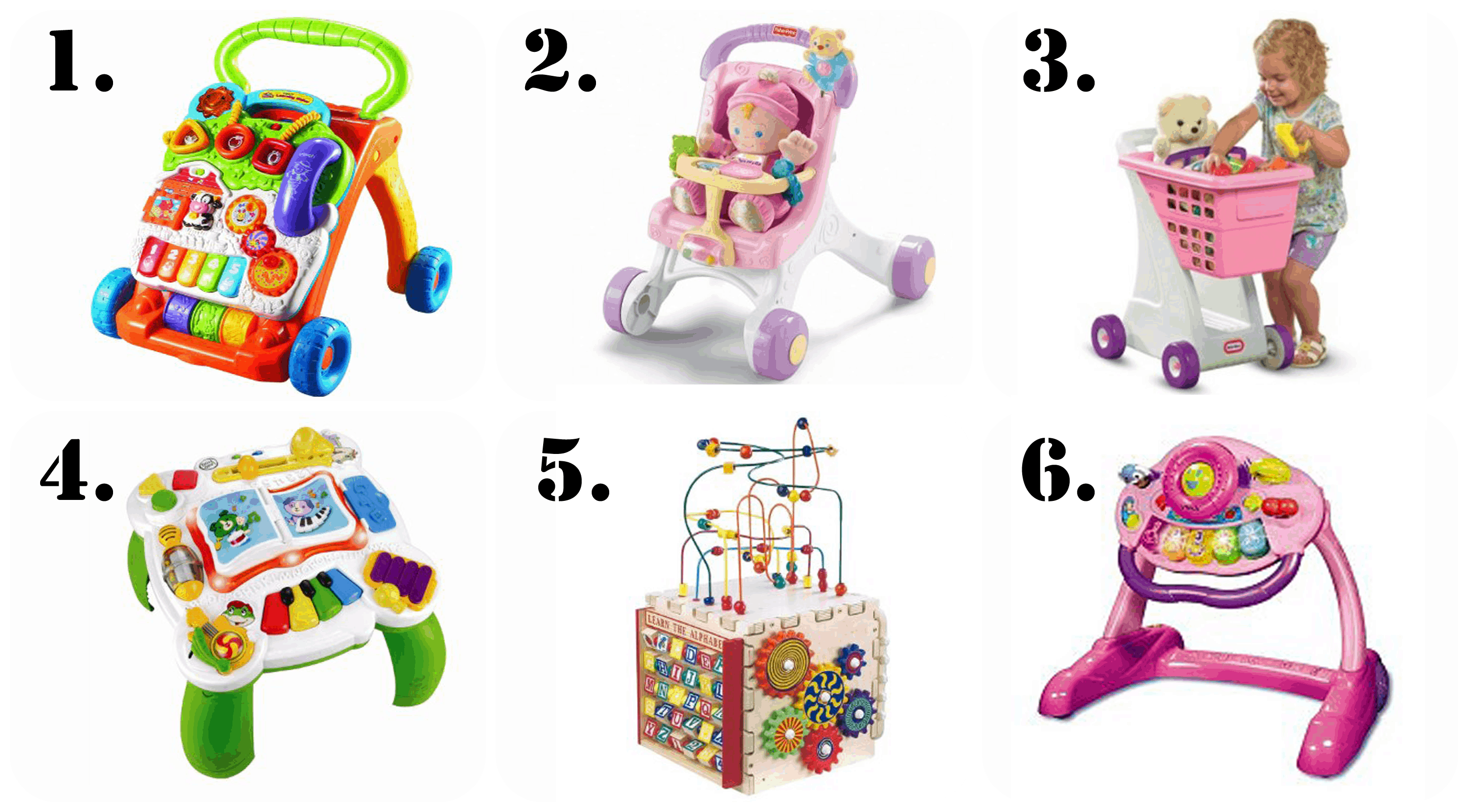 best presents and gift ideas for a 1 year old- Walker and standing toys