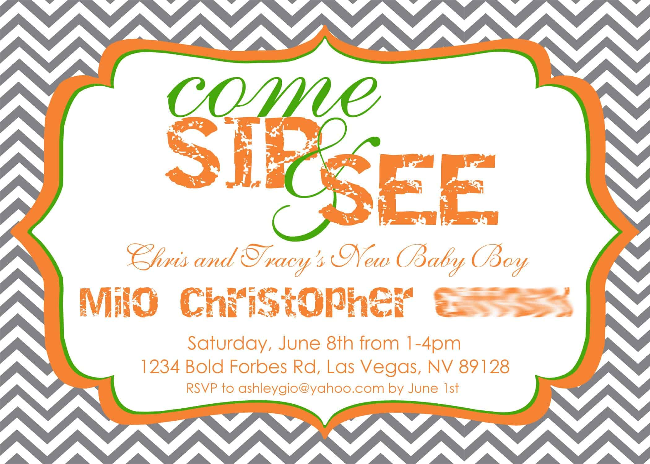 Free Sip And See Template Best Custom Invitation Template Ps
