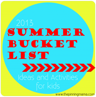 {Summer Bucket List} 50 Summer Ideas and Activities for Kids with Free Printable