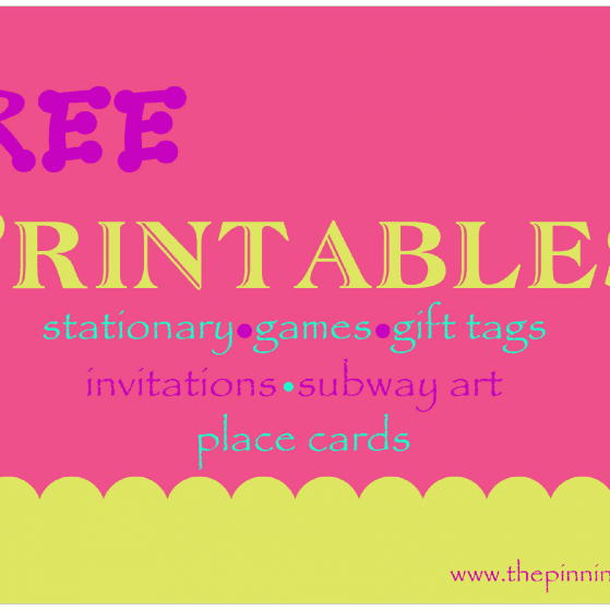 Free baby shower, sip and see printable www.thepinningmama.com
