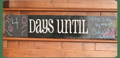 Chalkboard Countdown Sign www.thepinningmama.com