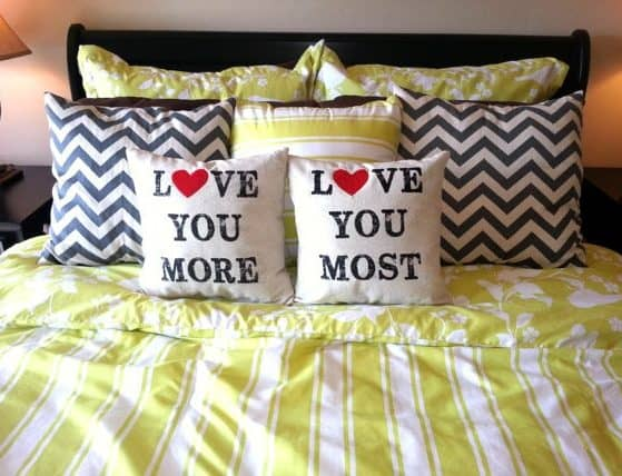 home decor - cute anniversary pillows www.thepinningmama.com