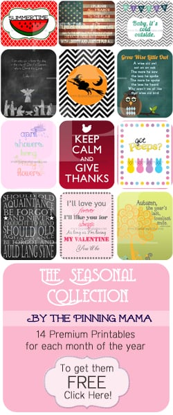 Free Seasonal Printables by www.thepinningmama.com