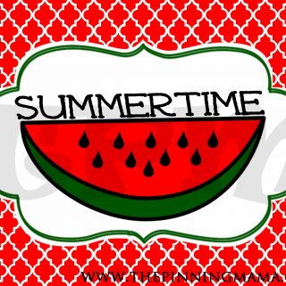 {Free Summer Printable} Summertime Word Art Decor