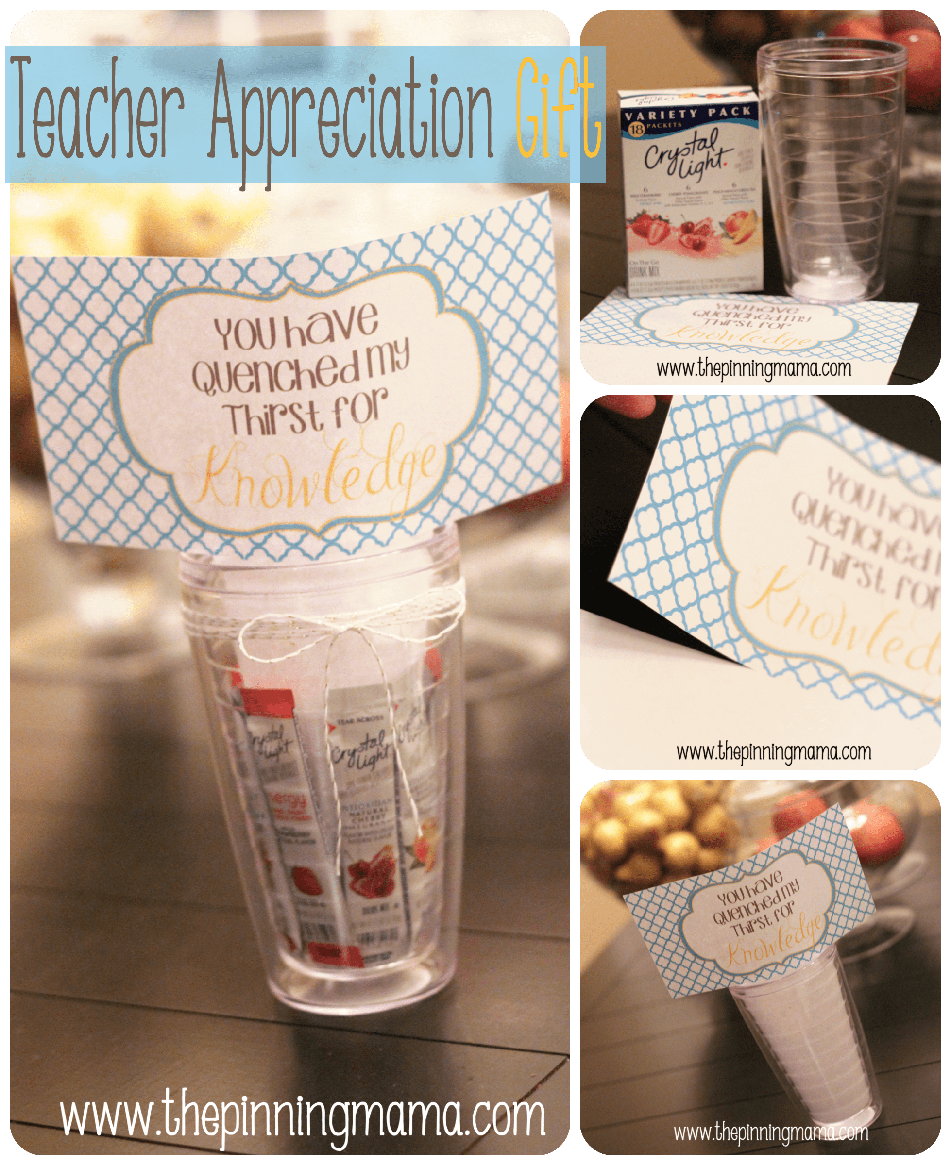 {Teacher Appreciation Gift} and Printable by www.thepinningmama.com