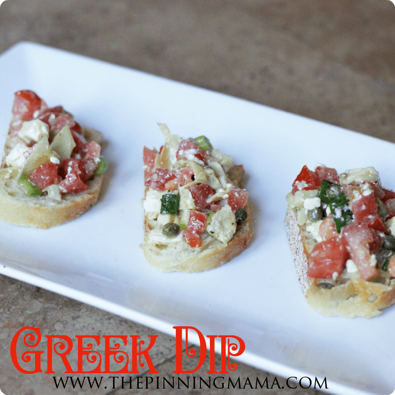 Light and Healthy Greek Dip by www.thepinningmama.com