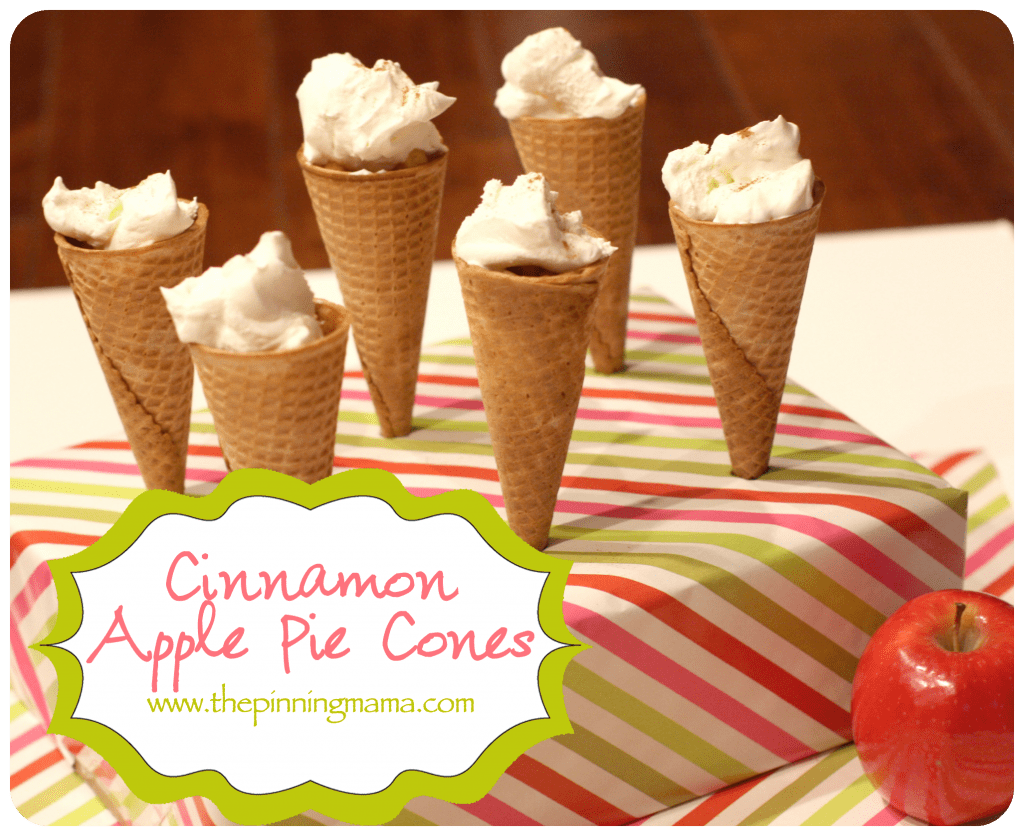Classic Apple Pie in an Ice Cream Cone! www.thepinningmama.com