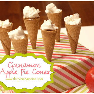 Cinnamon Apple Pie in a Cone!