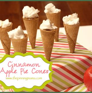 Cinnamon Apple Pie in a Cone!