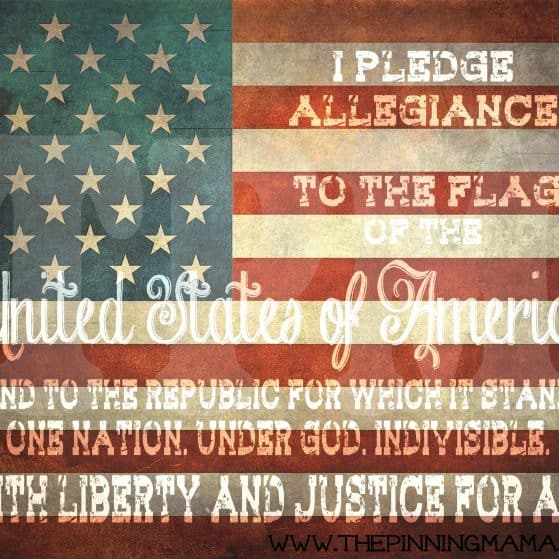 {Free Printable} 4th of July Patriotic Word Art by www.thepinningmama.com
