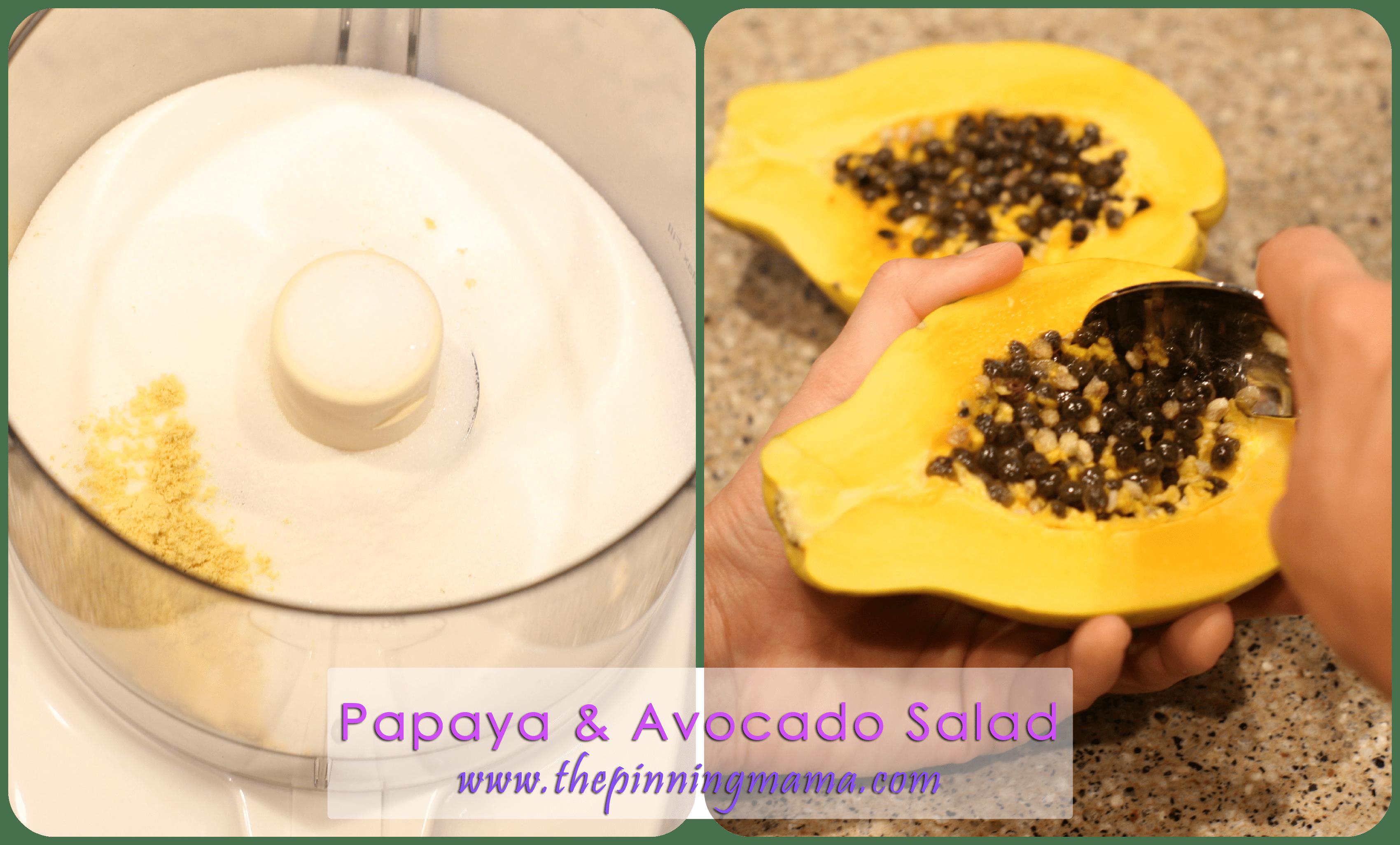 {Summer Salad Series} Papaya & Avocado Salad with Papaya ...