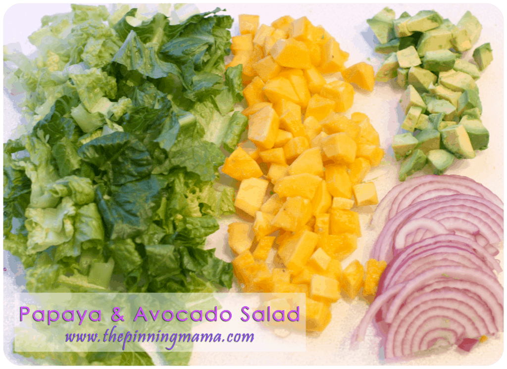 Summer Salad Series} Papaya & Avocado Salad with Papaya Seed Dressing
