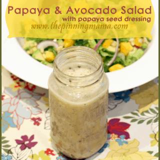 {Summer Salad Series} Papaya & Avocado Salad with Papaya Seed Dressing