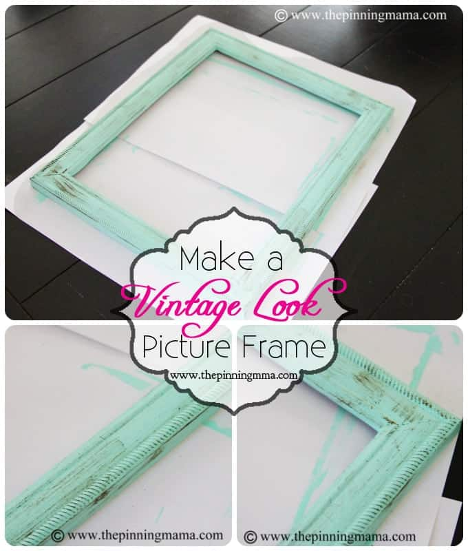 How To Make A Vintage Picture Frame With Dry Brush Technique The