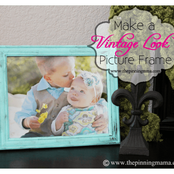 How to Create a Vintage Picture Frame with a Dry Brush Technique by www.thepinningmama.com