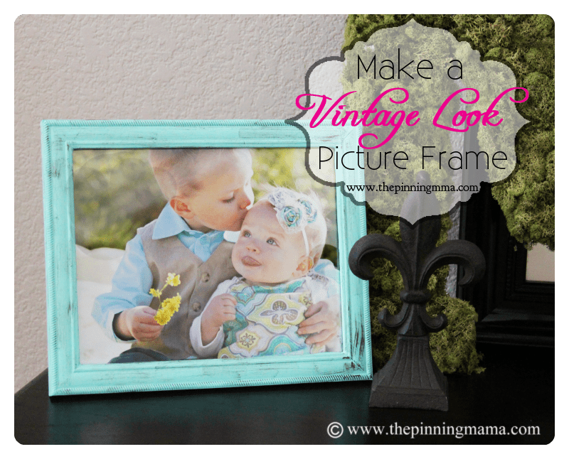 How to Make A Vintage Picture Frame with Dry Brush Technique • The ...