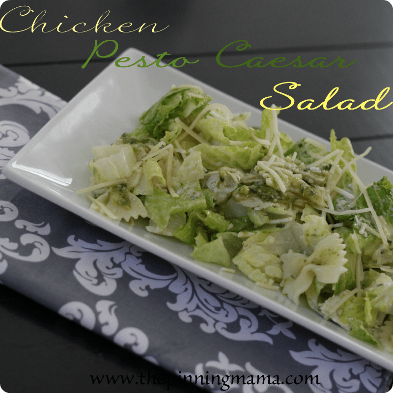 {Summer Salads} Chicken Pesto Caesar Salad by www.thepinningmama.com