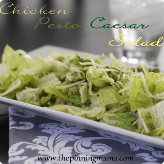 {Summer Salads} Chicken Pesto Caesar Salad