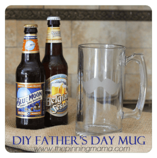 {Father's Day Gift} DIY Etched Glass Mustache Mugs
