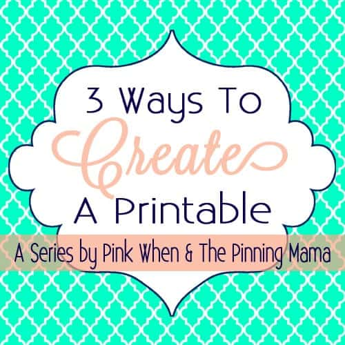 image relating to How to Create a Printable called How Towards Crank out A Printable The Pinning Mama