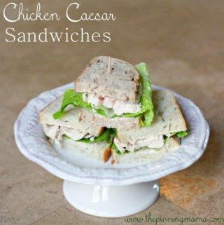 Chicken Caesar Sandwich: An Easy Weeknight Dinner or Fancy Party Food