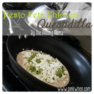 Pesto Feta Chicken Quesadilla