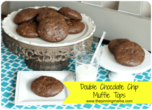 double chocolate chip muffins www.thepinningmama.com