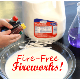 Fire Free Fireworks {An Indoor Kids Activity}