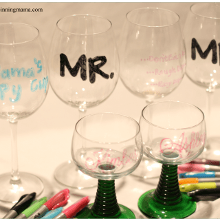 {diy} Personalized Wine Glasses