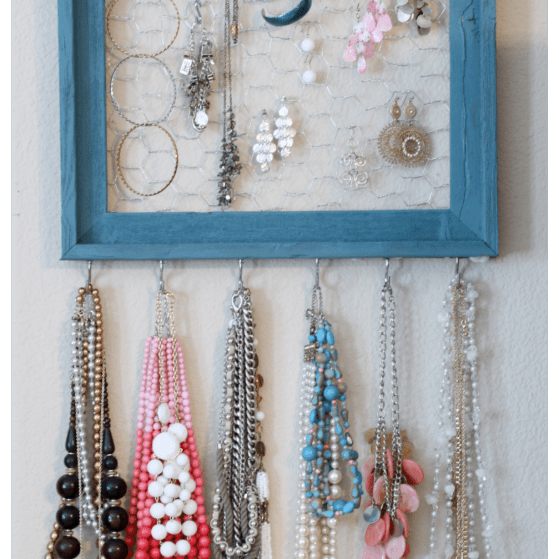 how to make a jewelry organizer www.thepinningmama.com