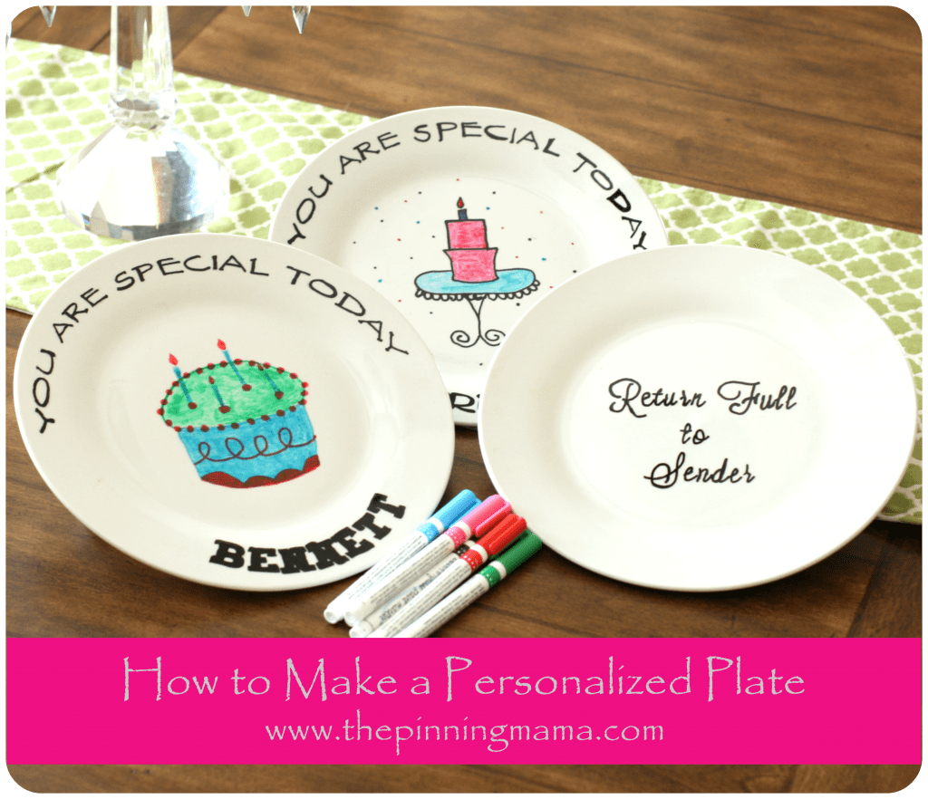 DIY How to Make a Personalized Birthday Plate www.thepinningmama.com
