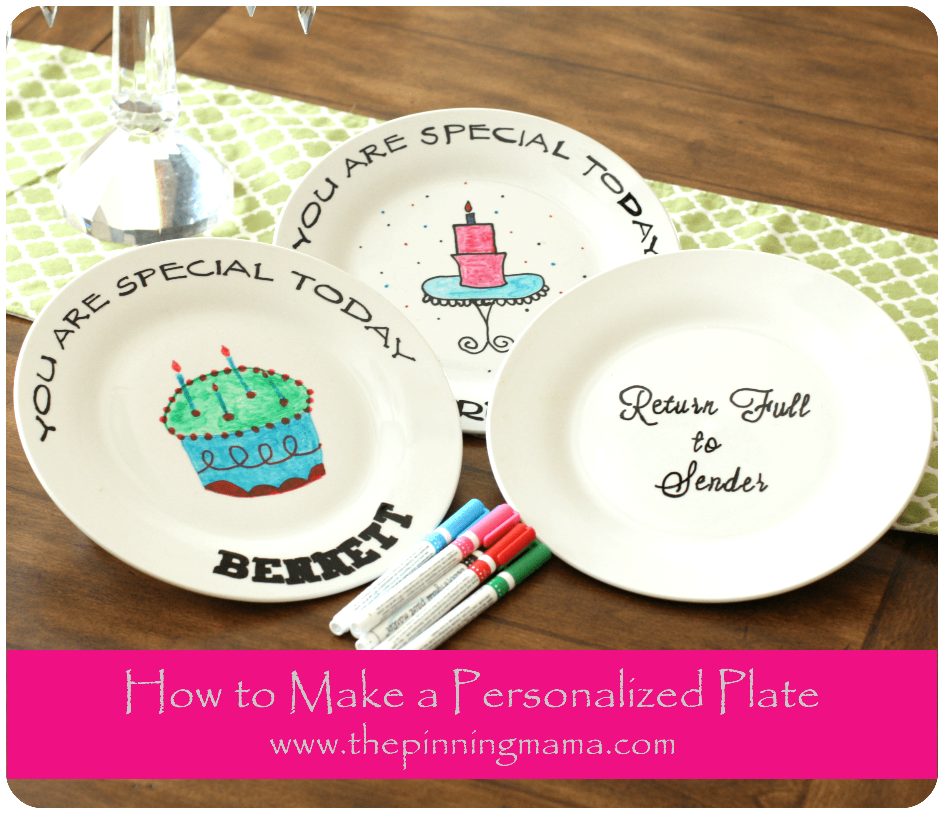 Diy How To Make A Personalized Plate The Pinning Mama