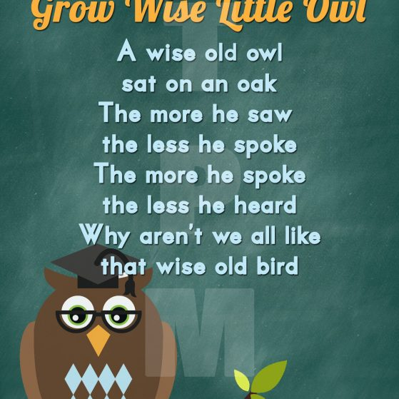 Free Back to School Owl Printable Word Art