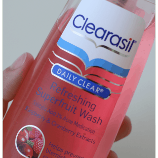 Clearasil's NEW! Daily Clear Refreshing Superfruit Cleansers
